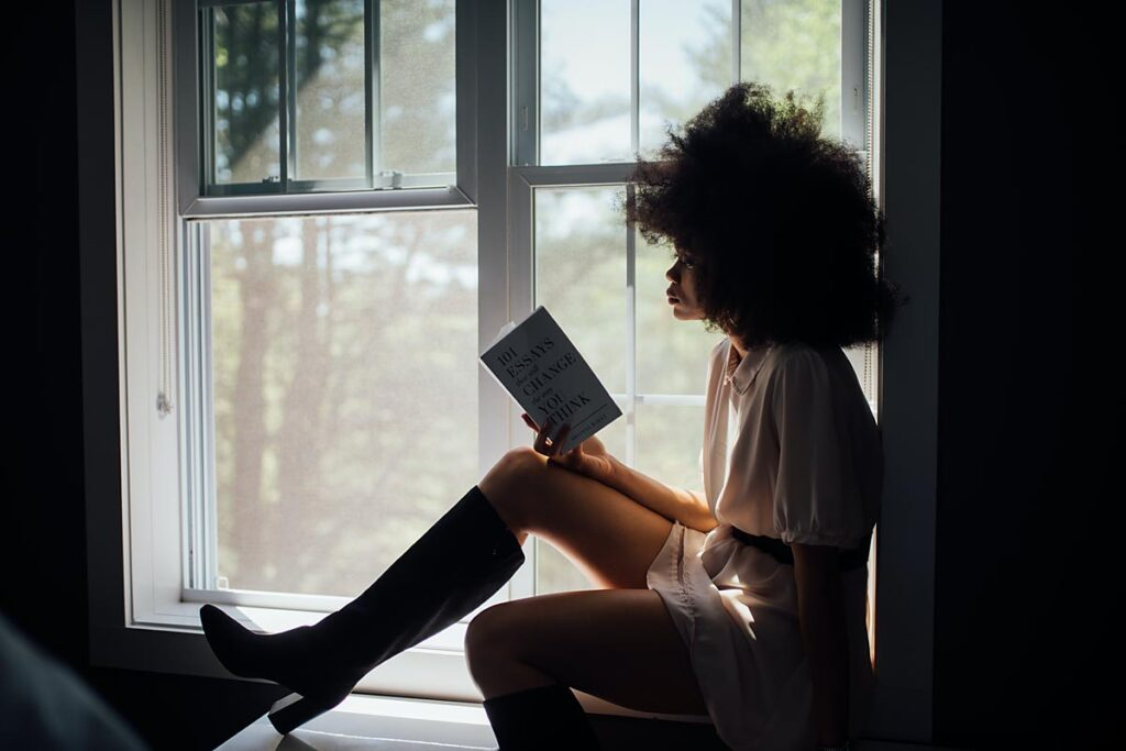 choose a hobby like reading to replace some of your screen time