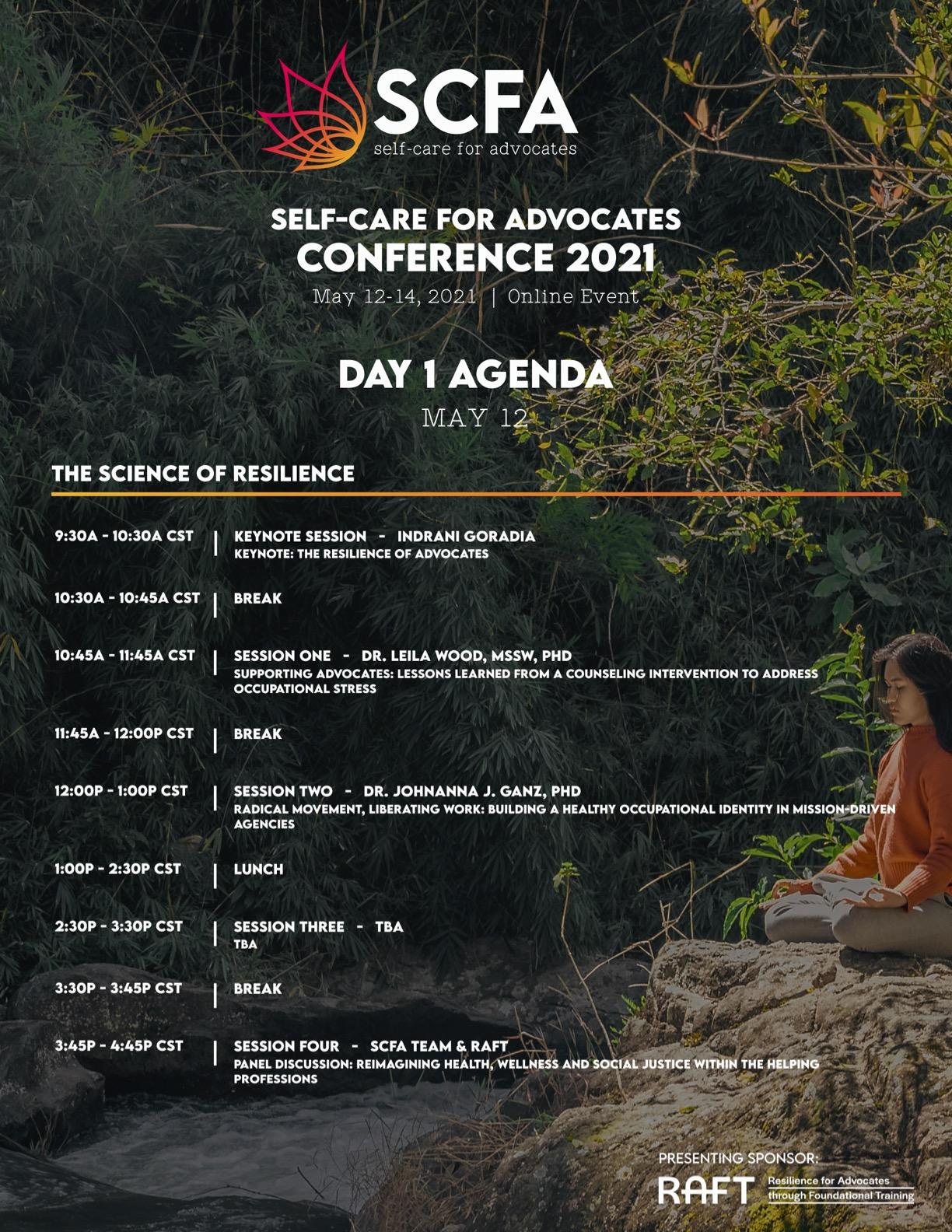 SCFA Con Agenda Day 1
