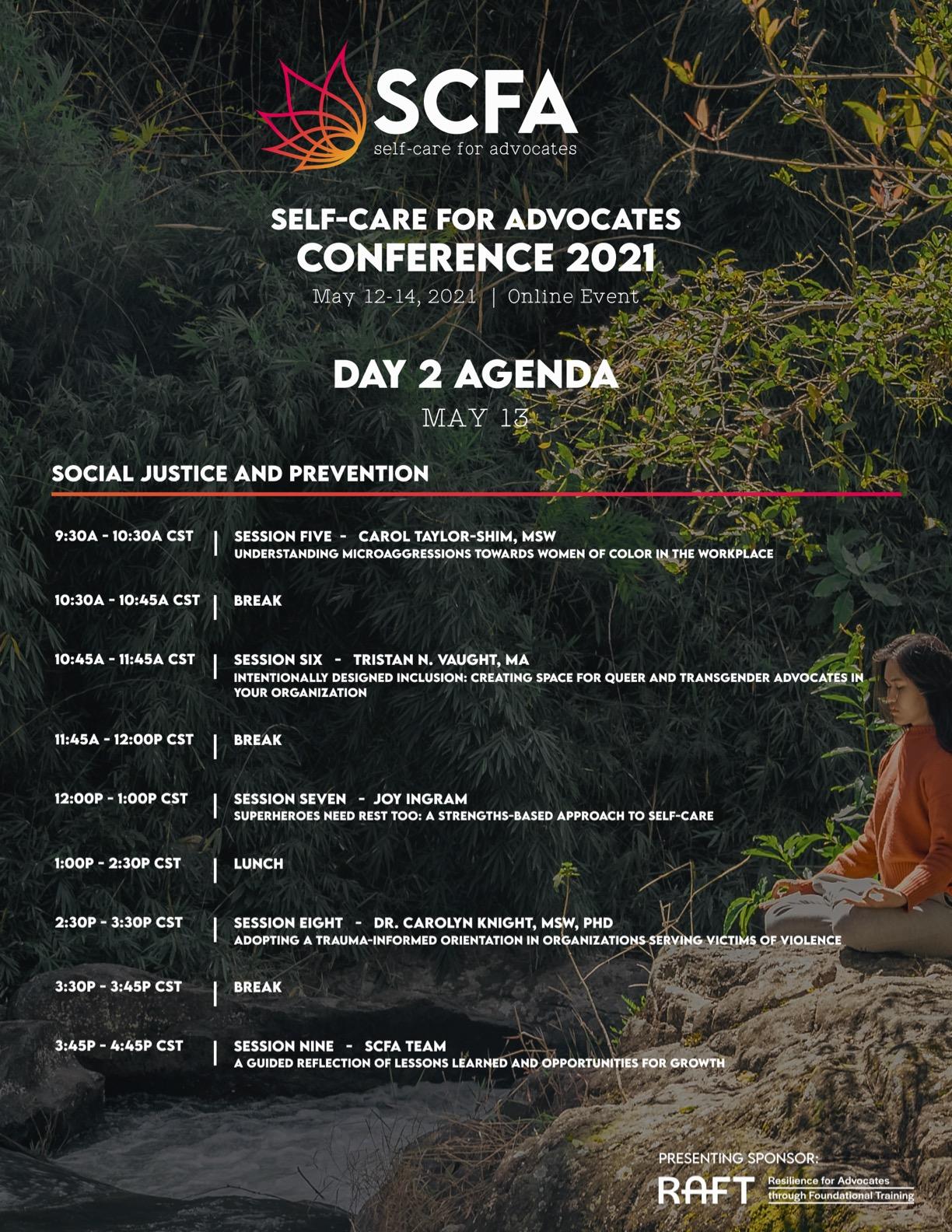 SCFA Con Agenda Day 2