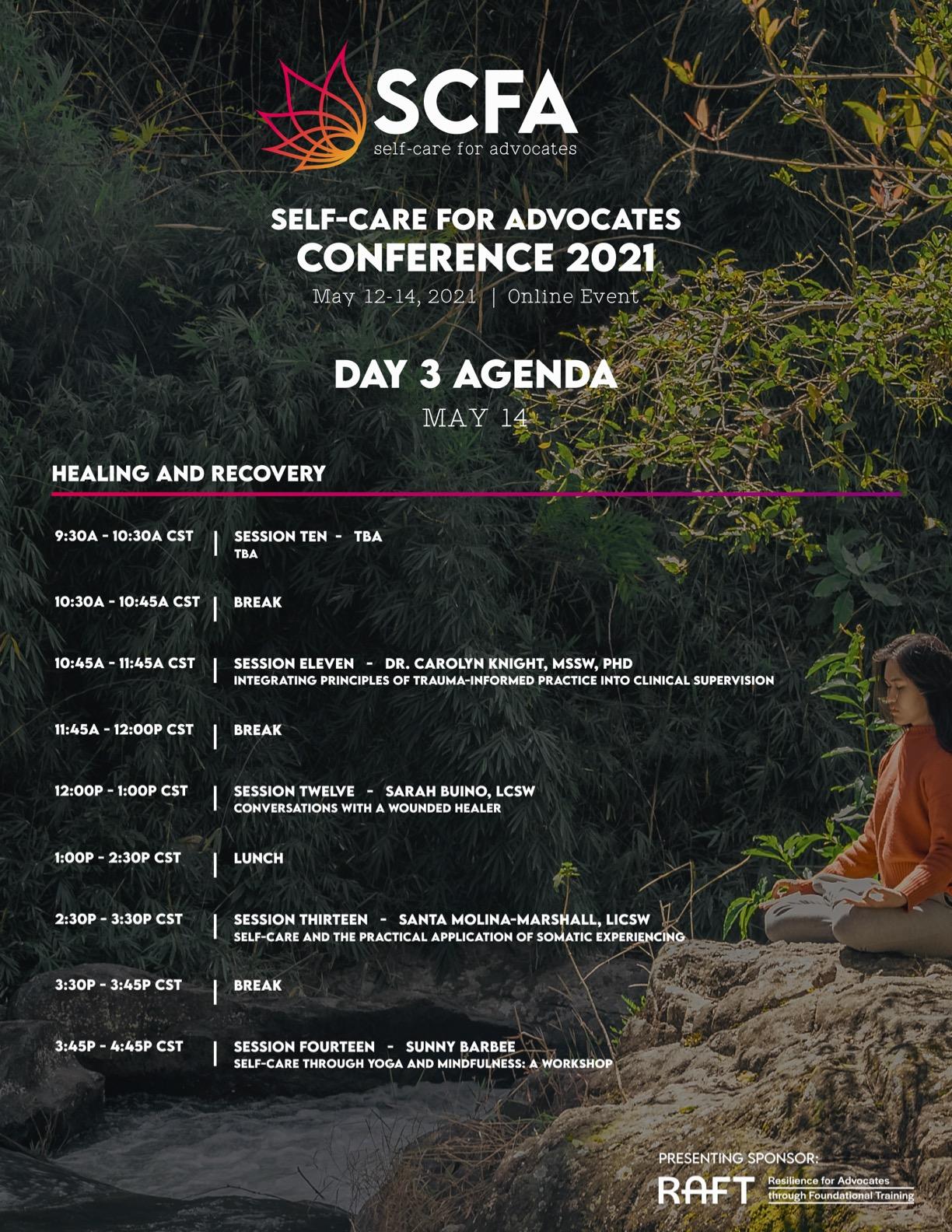 SCFA Con Agenda Day 3